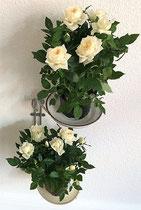 Affaldssortering til et skab i et køkken med affaldstativ fra affaldssorteringssystem Flower3, som planteholder 5