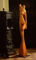 akt, holzskulptur, zum ambtman, restaurant, gunnar mozer, skulpturen