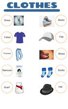Vocabulario de ropa en inglés