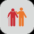 Icon Ambulante Grundpflege: Senior mit Pflegefachkraft