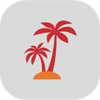 Icon Urlaubs- und Verhinderungspflege: Palme Insel