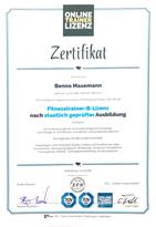 Zertifikat Fitness-Coach