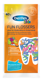 Dentek Fun Flossers Zahnseide-Sticks Kids