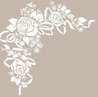 Plantillas o stencils para estarcir con motivos florales.