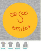 T-Shirt,Jesus smiles,Jesus,Smiley,