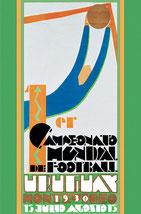Официальный плакат первого чемпионата мира по футболу (Уругвай, 1930) / Official poster of the first World Cup (Uruguay, 1930)