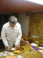 Feuille d'or sur lettres en 3D