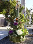 伊万里神社の門松