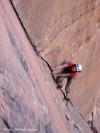 Dans le grès de Wadi Rum.
