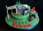 Thomas the tank engine Birthday cake - the great race with Thomas and Persy