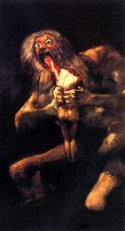 """""""Saturno devorando a su hijo"""". de Francisco de Goya (1746-1828)"""