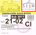 Karta wstępu do Sejmu RP