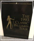 Teilnahme an Damen Billard Tour in Atlanta 1993 welche ich mit den 7. Platz beendete