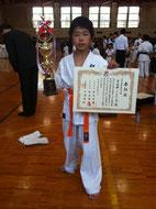 小学4年生 準優勝 河原崎遼介/Segundo colocado - Ryosuke Karasawa (Categoria 9 anos)