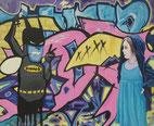 """Batgirl"" 2018,      Acryl/Baumwolle 90x110 cm"