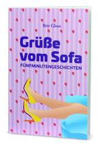 Debüt Brit Gloss, Cover Grüße vom Sofa, Kurzgeschichten,