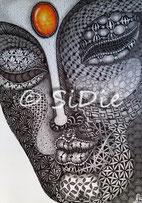 Buddha, Fabriano Tiepolo, Grafik, grafisches Muster, Entschleunigung, Alltag, Hektik, psychosomatisch, Symptome, Magersucht, Adipositas, Anorexie, Depression, Depressionen,  Angst, Panik, Zwang, Spaß, Freude, innere Ruhe, Ausgeglichenheit