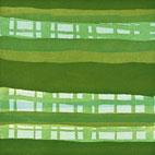 Monika Humm Radierung in Grüntönen aus der Serie Waiting