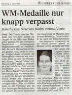 Westdeutsche Zeitung Bericht vom 26.10.2002