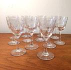 Petits verres en cristal d'Arques taillé, 1960