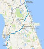 Strecke: Tag 7 (Google Maps)