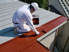 屋根塗装:上塗り作業
