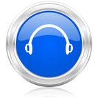 Headset-Gespräch