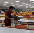 Safely Sanitise Canteen Tables and Chairs