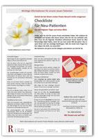 Checkliste Zahnarzt Dr. Rassaf in Frankfurt-Niederrad