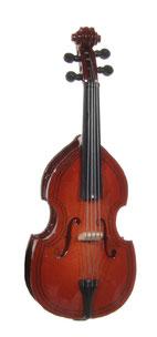 kontrabass als musikgirlande