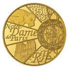 NOTRE-DAME DE PARIS 5 EURO OR