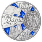NOTRE-DAME DE PARIS 50 EURO ARGENT