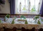 Personalisierte Tischdekoration Erstkommunion