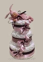 """Торт из памперсов для девочки """" Маленький Зайчонок""""  (из коллекции """"Цветочный сон"""")"""