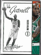 KEVIN GARNETT / Signatures Green - No. 91  (#d 2/5)