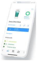 CodeCheck App auf einem Handy für den bewußten Einkauf
