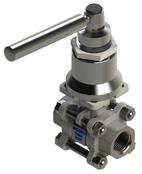 ISO 5211 mount Valves Spring Return Handle, ISO5211 spring return, ISO 5211 spring return valve, ISO5211 mounting flange spring return ISO 5211, ECON spring return valve