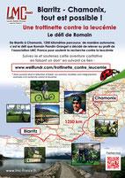 LMC FRANCE ROMAIN BIARITZ CHAMONIX TROTTINETTE CONTRE LEUCEMIE MYELOIDE CHRONIQUE DEFIT CHALLENGE 2016