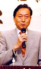 講演する鳩山元首相(9日夜)