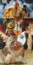 Coq, poules et poussins - mixte - 50 X100