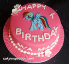 My Little Pony girls birthday cake