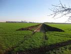 Gröbzig: Trassenführung  der neuen Wasser-Druckleitungen an der Pfaffendorfer Strasse 2014/2015
