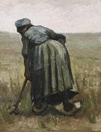 「耕す農夫の女性」(1885年)