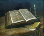 「開かれた聖書の静物」(1885年)