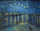 「ローヌ川の星月夜」(1888年)