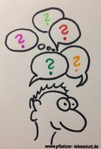 offene Fragen rhetorische Fragen Antwort