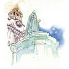 St. Paul's Cathedral, watercolor, Susanne Ward