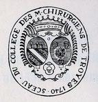 Sceau du collège des maîtres chirurgiens de Troyes