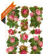 Cromos antiguos de flores para jugar o utilizar en scrap o decoupage