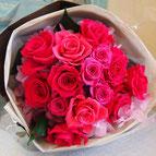 プリザーブドフラワー,花束,濃いピンク,ギフト,結婚式の両親花束贈呈,プロポーズ,退職祝い